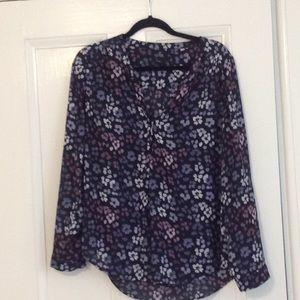 Split-neck blouse